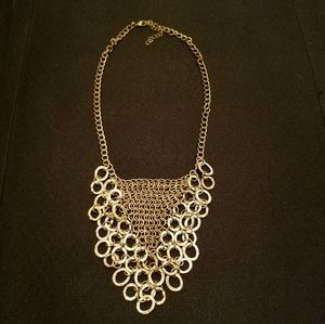 Triangle gold chain necklace